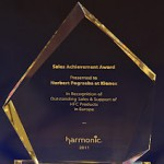 Sales Achievement Award 2011</strong> (nagroda Harmonic przyznana za osiągnięcie wysokich wyników sprzedaży w sektorze transkoderów - Prostream ACE - za rok 2011)