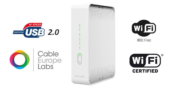 Bezprzewodowa brama kablowa VoIP CGA2121, 24×8 EuroDOCSIS 3.0
